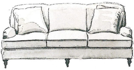 Sofa Style Guide - English Three-Seater