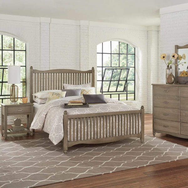 Vaughan-Bassett American Maple - Rustic Grey Bedroom Collection 1 Sofas & More
