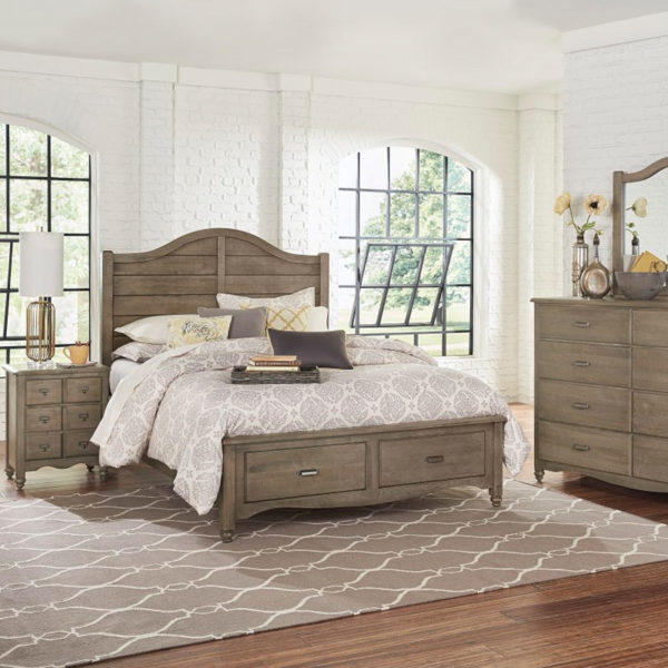 Vaughan-Bassett American Maple - Rustic Grey Bedroom Collection 2 Sofas & More