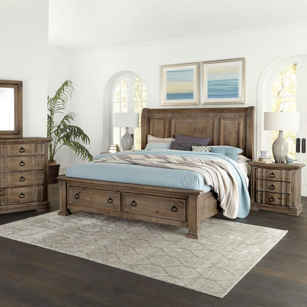 Vaughan-Bassett Rustic Hills Bedroom Collection 2 Sofas & More