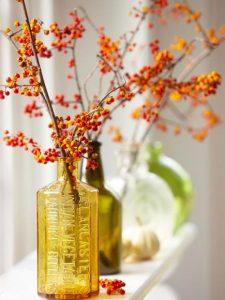 Fall Home Decor Ideas - Glass Bottles