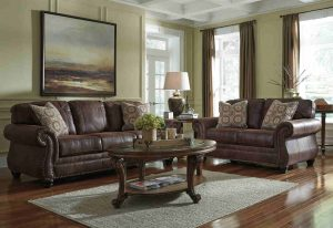 Holiday-Ready with the Ashley Breville Living Room Set - Espresso