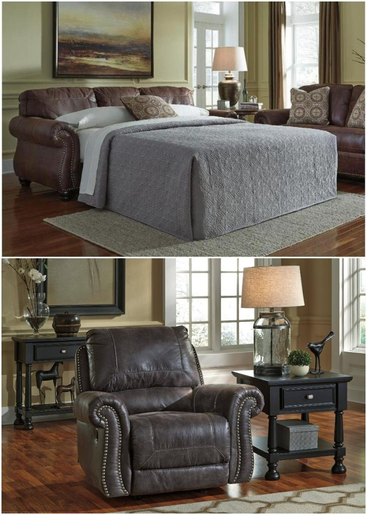 Holiday-Ready with the Ashley Breville Living Room Set - Sleeper/Recliner