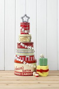 25 Fun Christmas Decor Ideas - Cookie Tin Tree