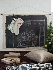 25 Fun Christmas Decor Ideas - Chalkboard