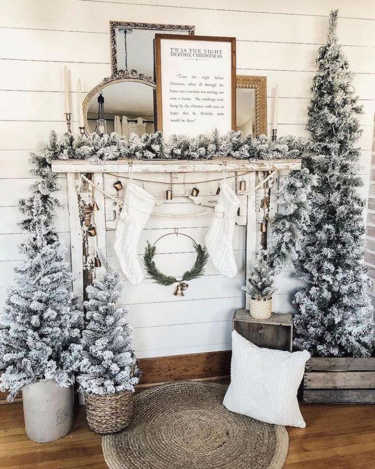 Farmhouse Christmas Decor - Mantle 1