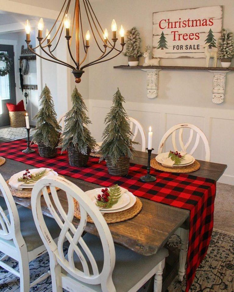 Farmhouse Christmas Decor - Table 1