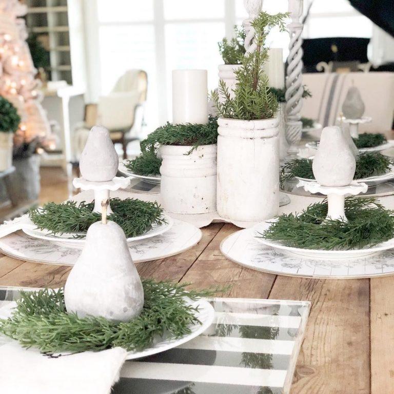 Farmhouse Christmas Decor - Table 2