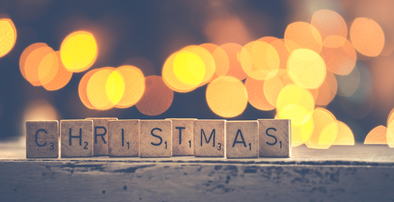 Farmhouse Christmas Decor - Scrabble