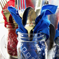 13 Easy Tips for a Star-Spangled Fourth of July Party - more jars