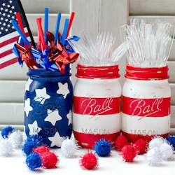 13 Easy Tips for a Star-Spangled Fourth of July Party - jars