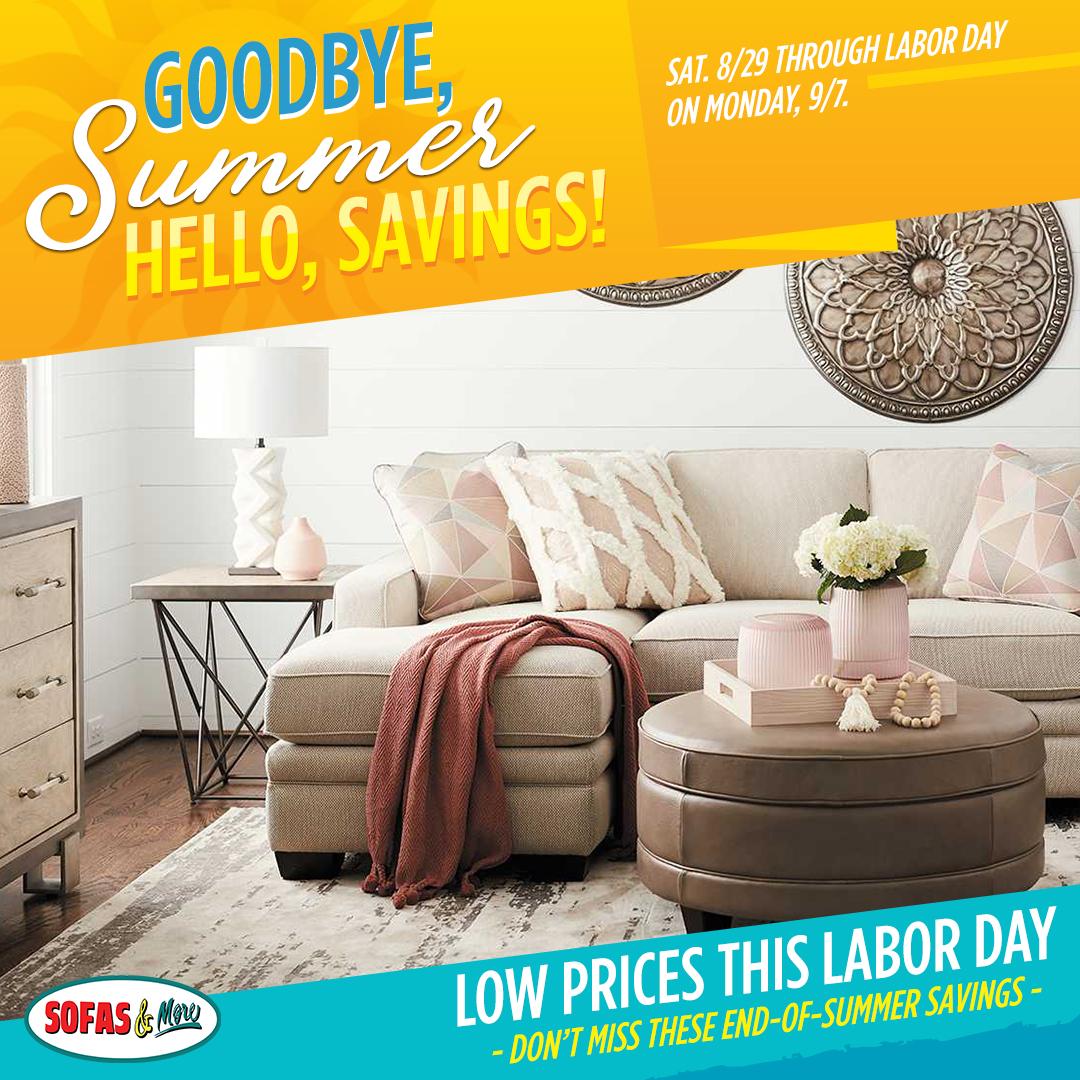 Sofas & More Labor Day Furniture Sale - split 1