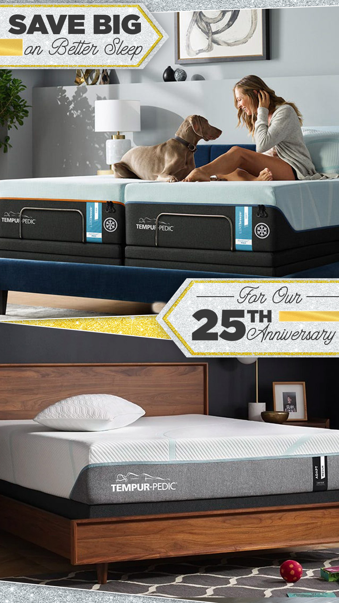 Sofas & More 25th Anniversary Sale - Sleep Store