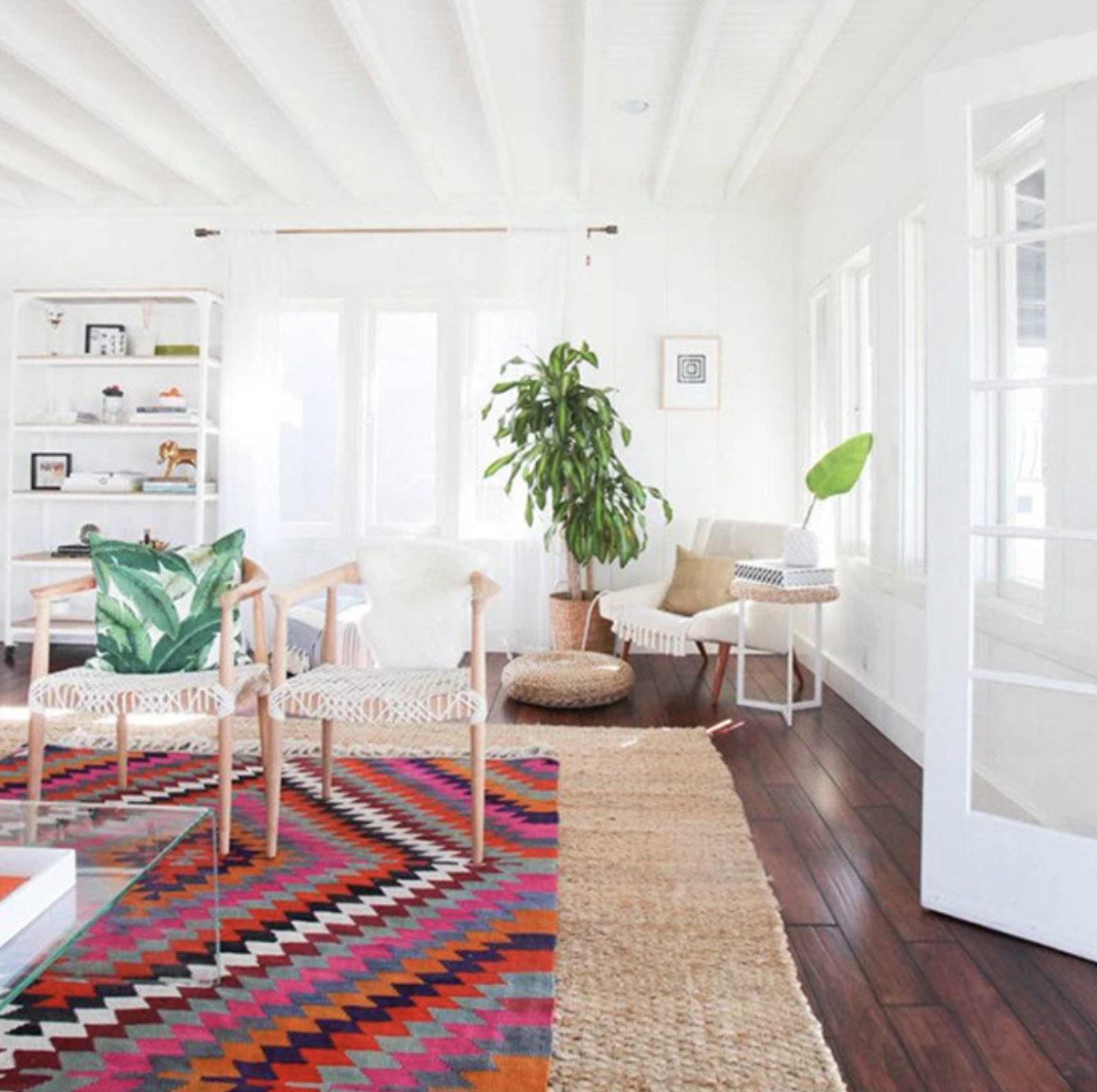 Affordable Home Decor - Layered Rugs